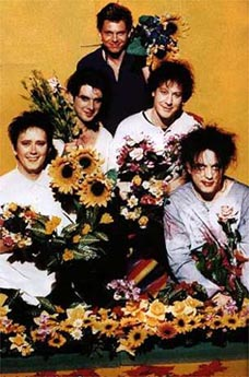 The Cure with sunflowers
